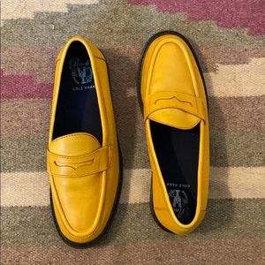 Come Haan Yellow Pinch Maine Classic Loafers